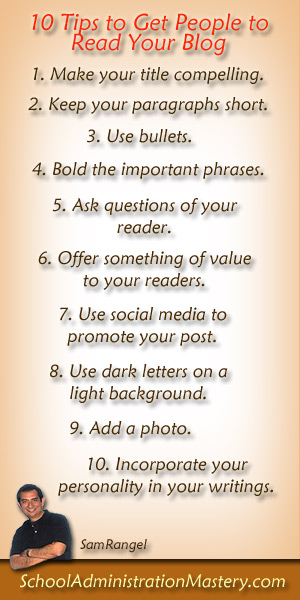 10 tips to get people to read your blog