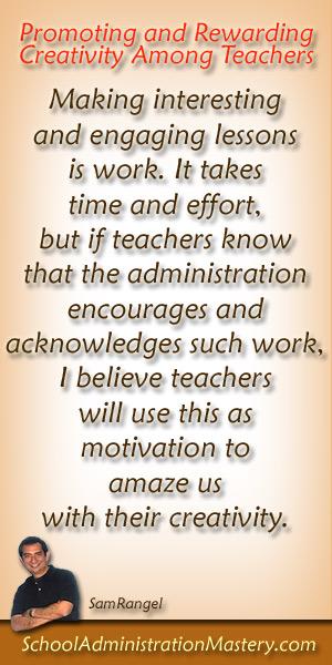 Promoting Creativiy Among Teachers