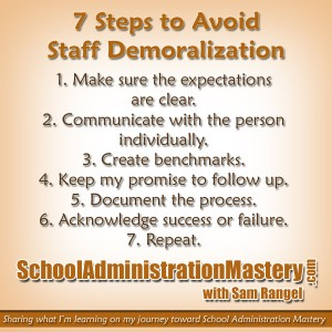 7 Steps to Avoid Staff Demoralization